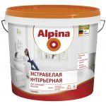 Водоэмульсия Alpina Экстрабелая интерьерная, белая, 10л