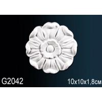 Декоративная розетка из полиуретана G2042 10см