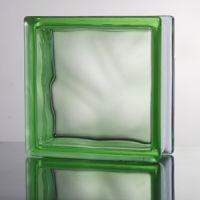Стеклоблок прозрачный Cloudy зеленый JH017