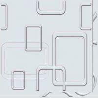 Декоративная 3D панель Rektangel (HX-05) 500*500mm