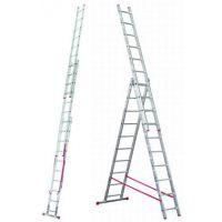 Алюминиевая лестница Corda 3х7 Н=1,95/2,95/4,2м  (010377)