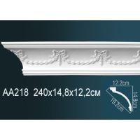 Плинтус потолочный с рисунком AA218 240*14,8*12,2 см