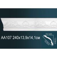 Плинтус потолочный с рисунком 240х13,9х14,1 см АА107