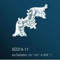 Декоративный угол для молдингов AD314-11 (25*25*3см)
