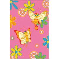 Ковер Aquarelle KIDS 1,37х2,00    Розовый бабочки