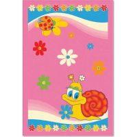 Ковер Aquarelle KIDS 0,82х1,6   Розовый улитка