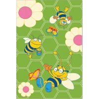 Ковер Aquarelle KIDS 0,82х1,60  Зеленый - Пчелки