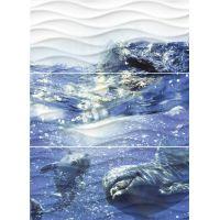 Керамическое панно (WA2T123D) : Wave Dolphins 60x44 С1фиолет.(8,5 мм=4шт)