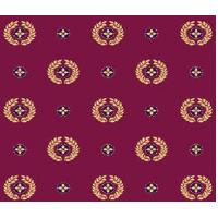 Ковролан Aquarelle 807 8 41055, красный c медальонами 4м