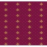 Ковролан Aquarelle 157 8 41055, красный с лилиями, 4м