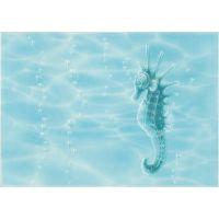 Декор Лазурь морской конек бирюзовая