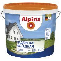 Водоэмульсия акриловая Alpina Надежная фасадная, белая, 10 л