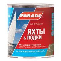 Лак PARADE L20 яхтный алкидно-уретан. Матовый 0,75л
