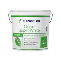 Водоэмульсия OASIS SUPER WHITE краска для потолков 3 л