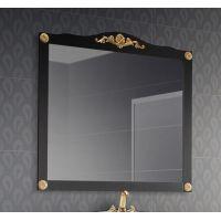 Зеркало Верди В105 Черный с золотой патиной