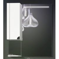 Зеркало со шкафом Анталия В 80 Белое с ЛДСП венге (65)