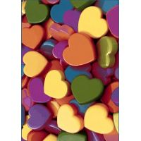 Ковёр  KOLIBRI  FRIZE 11021/150  2,0м х 3,0м  Цветные сердечки