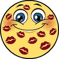 Детский коврик 0,8 х 0,8 Круглый 11085/150 Смайлик поцелуй