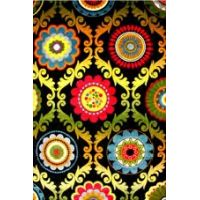 Ковёр KOLIBRI FRIZE 11003/180 2,0м х 3,0м Хохлома цвет черный
