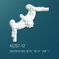 Декоративный угол для молдингов AC257-12 21*21cm