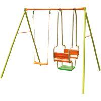 Детский комплекс AG501P12 (1 лодочка + 1 качеля + 1 скутер) ( 256х185 см)