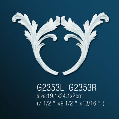 Орнамент из полиуретана G2353L (R) 19.1х24.1х2 cm