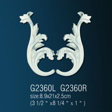 Орнамент из полиуретана G2360 L(R)  8.9х21х2.5 cm