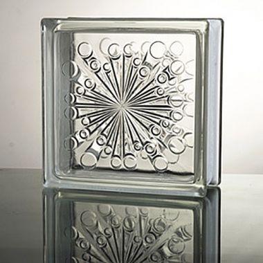 Прозрачный стеклоблок Meteor JH024