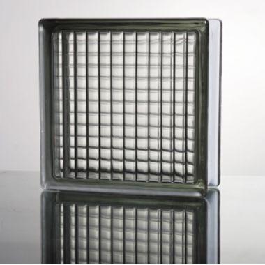 Стеклоблок прозрачный Parallel серый JH014