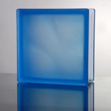 Стеклоблок матовый Misty cloudy голубой JH041