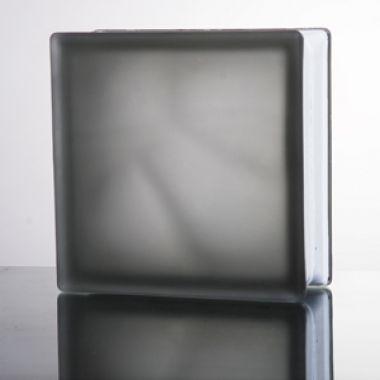 Стеклоблок матовый Misty cloudy, серый JH042