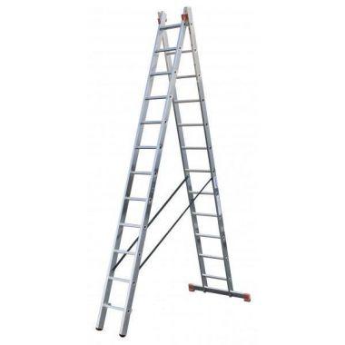 Алюминиевая лестница Corda 2х11,   Н=3,1/2,95/5,3м (010223)