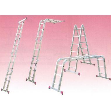 Алюминиевая лестница шарнирная МULTIMATIC 4х4 S  Н=4,70/5,50м  (