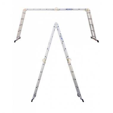 Алюминиевая лестница шарнирная (4х4), Н=4,5/5,4м  (ТL4044)