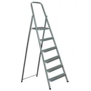 Алюминиевая лестница-стремянка 6-и ступ, Н=1,24/3,30м  (Ам706)
