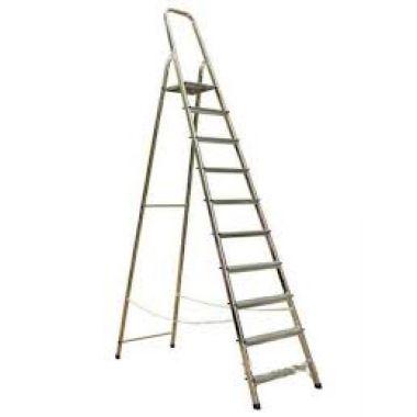 Алюминиевая лестница-стремянка 10-и ступ, Н=2,08/4,10м  (Ам710)
