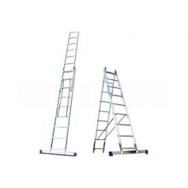 Алюминиевая лестница 2х14, Н=6,7/7,8м  (5214)