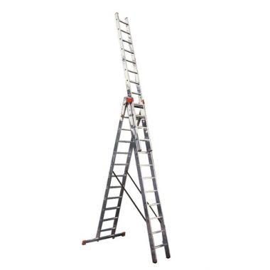 Алюминиевая лестница 3х6, Н=3,4/4,4м  (5306)