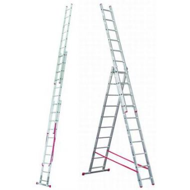 Алюминиевая лестница 3х11, Н=7,0/8,0м  (5311)