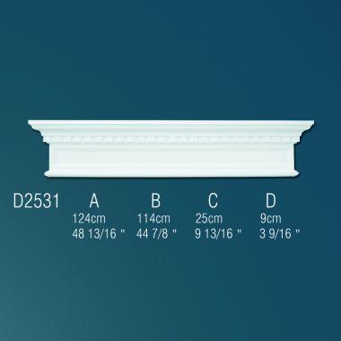 Дверной декор Фриз D2531 124х25х9см