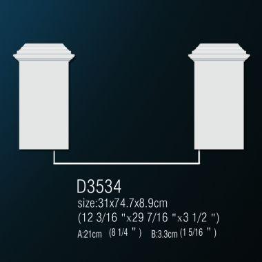 База из полиуретана D3534 30,5х74,4х8,9см