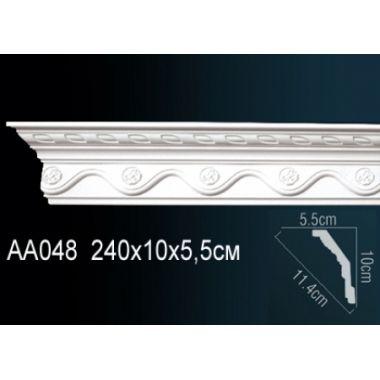 Плинтус потолочный с рисунком АА048 240х10х5,5 см