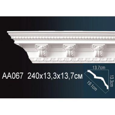 Плинтус потолочный с рисунком АА067 240х13,3х13,7 см