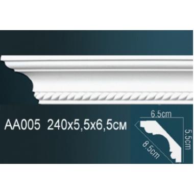 Плинтус потолочный с рисунком АА005 240х5,5х6,5см