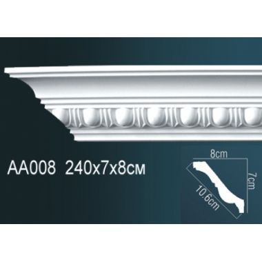 Плинтус потолочный с рисунком АА008 240х7х8 см