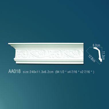 Плинтус потолочный с рисунком АА018 240х11,3х6,2 см