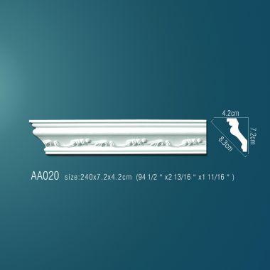 Плинтус потолочный с рисунком АА020 240х7х4 см