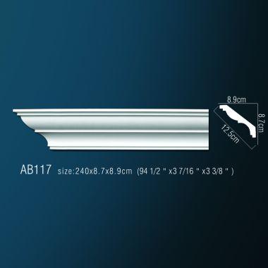 Декоративный потолочный плинтус АВ 117