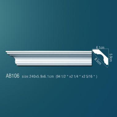 Декоративный потолочный плинтус АВ106