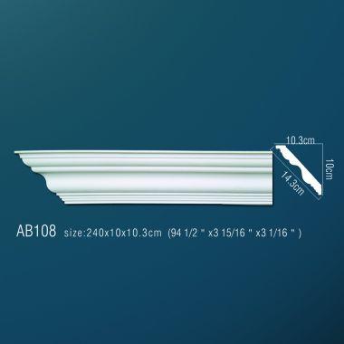 Декоративный потолочный плинтус АВ108